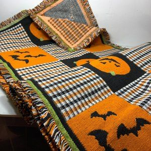 """Other - Halloween Table Runner 72"""" x 16"""" Bats Cats Witches"""